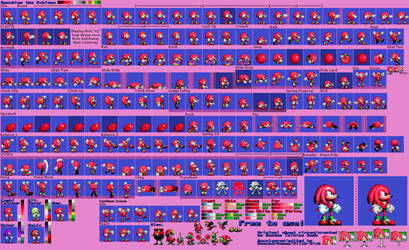Knuckles the Echidna (Sonic 1/CD Repalette) by Slick-Nick