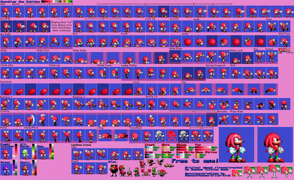 Knuckles the Echidna (Sonic 1/CD Repalette)