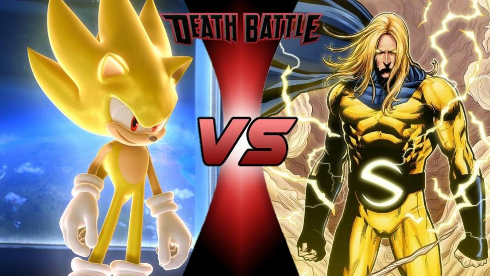 Super Sonic vs. The Sentry by XImortalPantzFTWX
