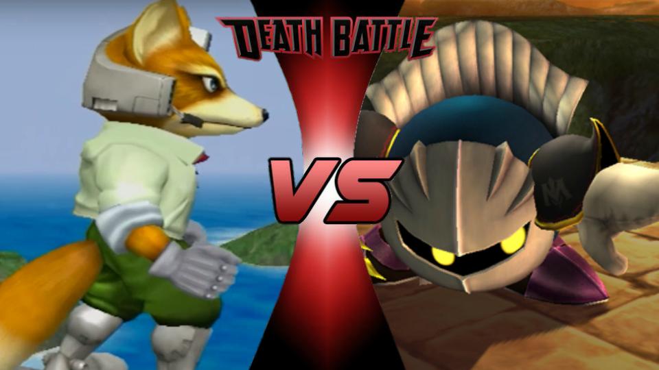 Melee Fox vs. Brawl Meta Knight by XImortalPantzFTWX