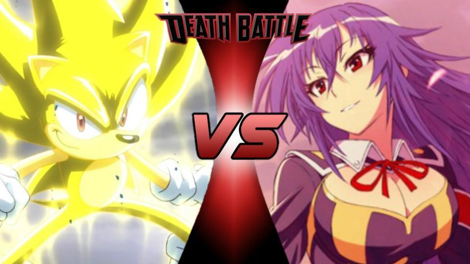 Sonic the Hedgehog vs. Medaka Kurokami by XImortalPantzFTWX