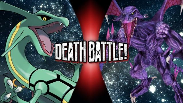 Rayquaza vs. Ridley by XImortalPantzFTWX