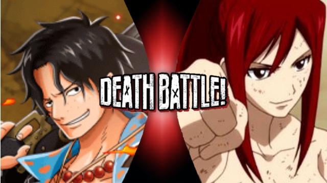 Ace vs. Erza by XImortalPantzFTWX