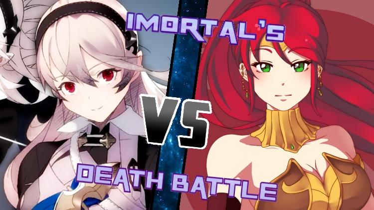 Corrin vs. Pyrrha by XImortalPantzFTWX