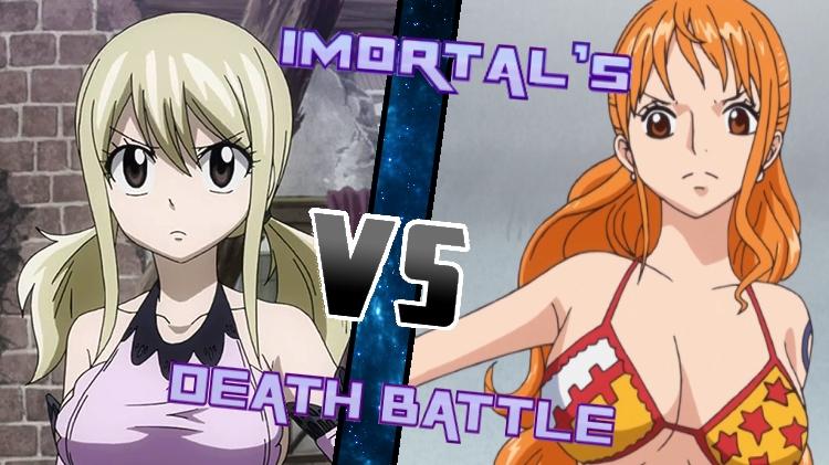 Lucy vs. Nami by XImortalPantzFTWX