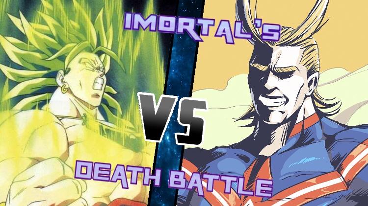 Broly vs. All Might by XImortalPantzFTWX