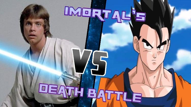 Luke vs. Gohan by XImortalPantzFTWX