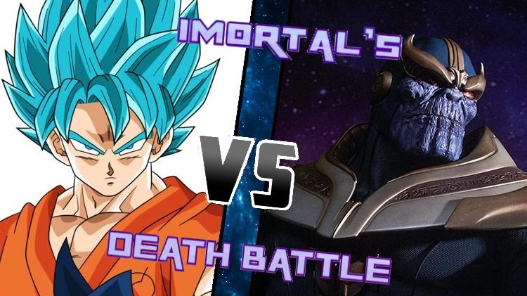 Goku vs. Thanos by XImortalPantzFTWX