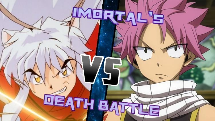 Inuyasha vs. Natsu by XImortalPantzFTWX