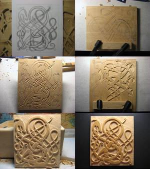 Little Urnes panel WIP