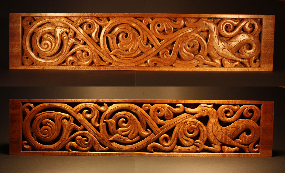 Celtic wood carving crypto party in september