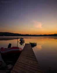 L'Aube au lac aux truites by Marie-pierrafeu
