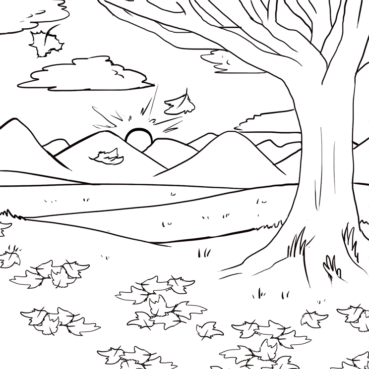 Line Art Background : Free fall background lineart by psykii on deviantart