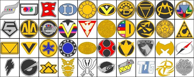 Super Sentaipower Ranger Team Symbols By Mormon Toa On Deviantart