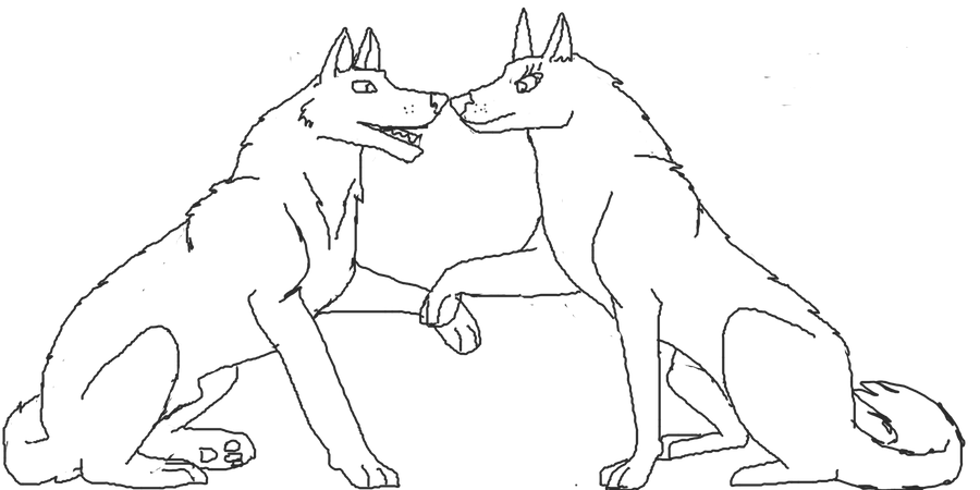 Line Art Love : The gallery for gt wolf love lineart