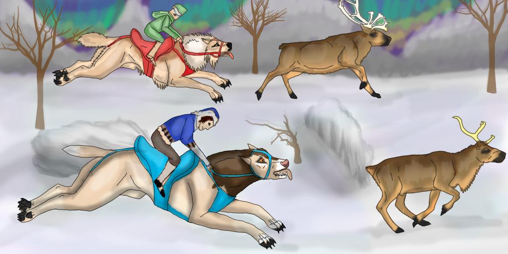 Hunting in The Snow by lighteningfox