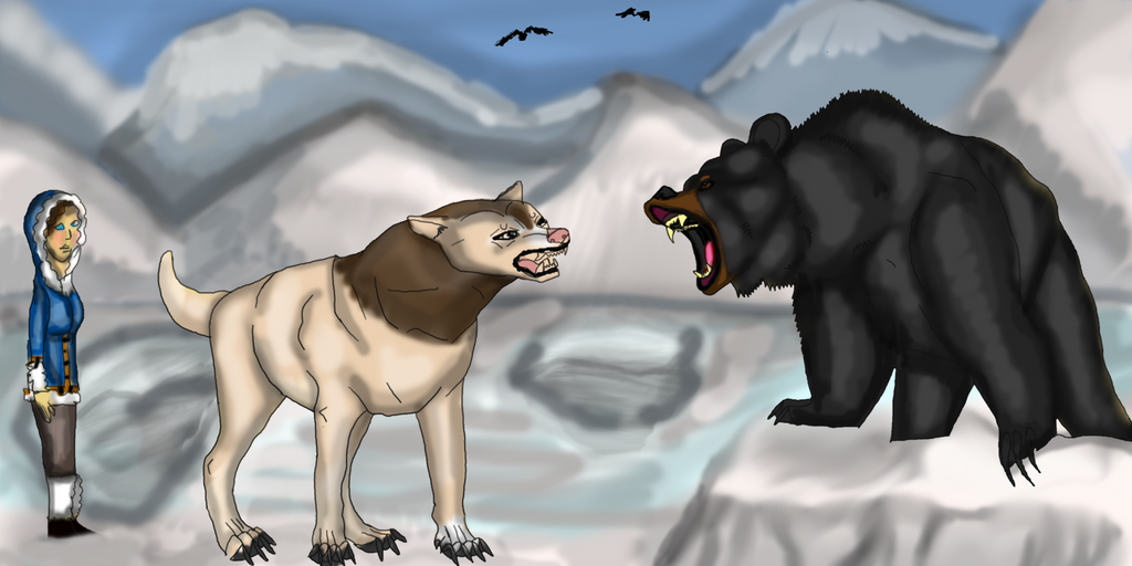 Facing the Black Bear by lighteningfox