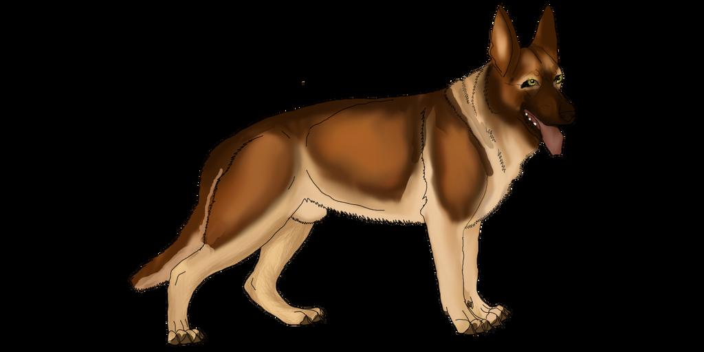 German Shepherd design for Royal Front by lighteningfox