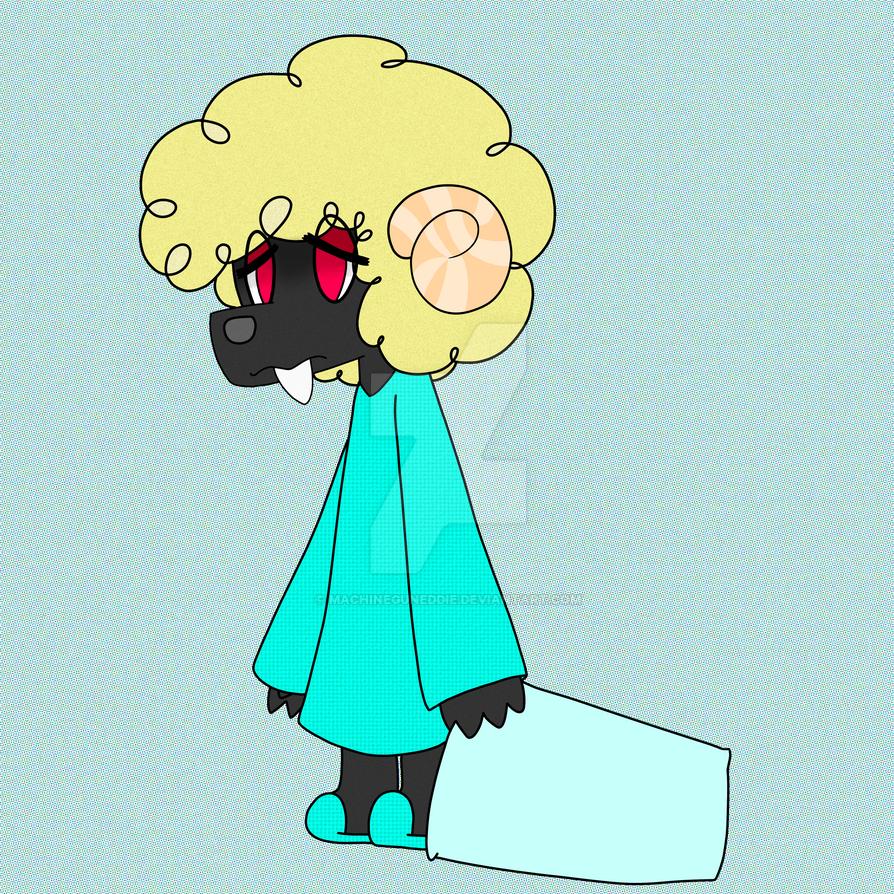Redrawn Sleepy Sheep by MachineGunEddie