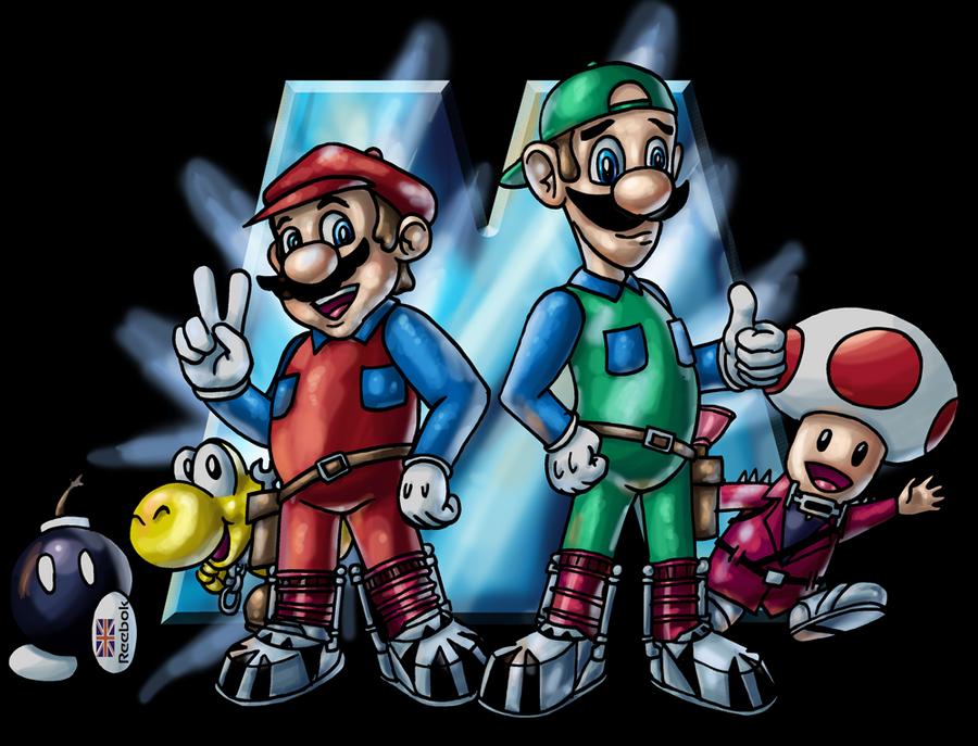 We handle this like Marios... by Inkmonkey-Woodis