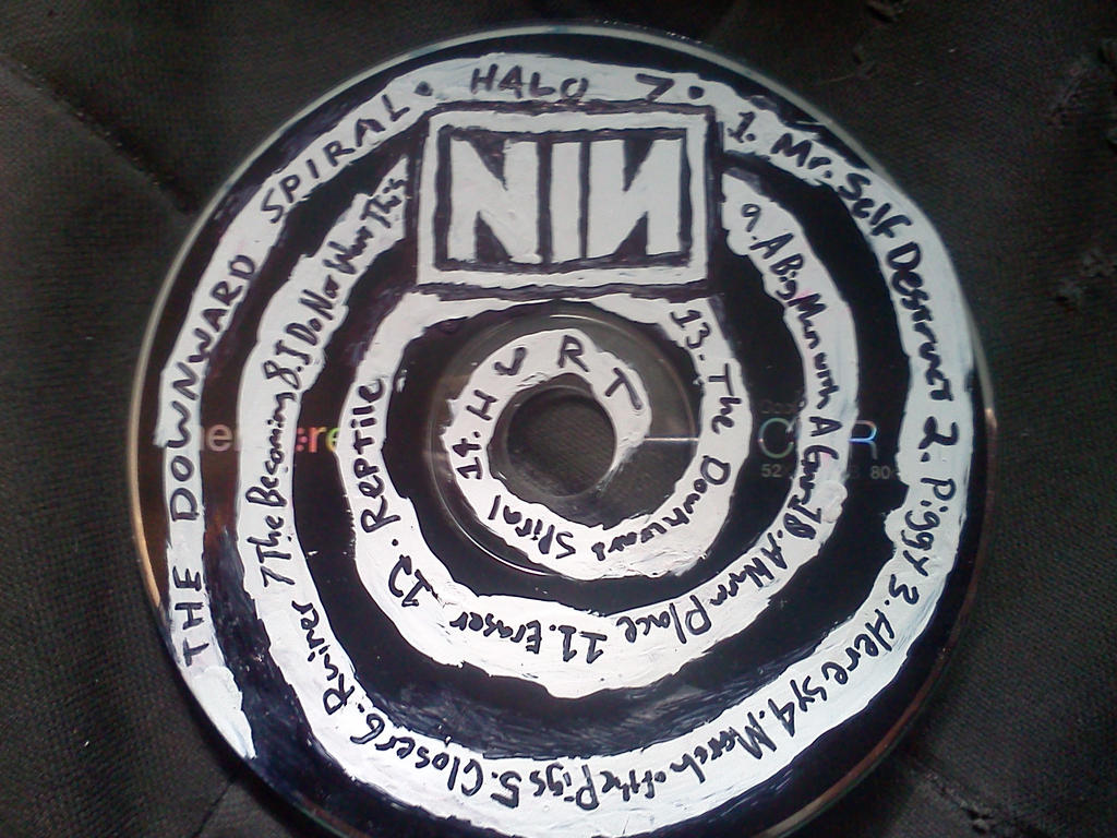 Nine Inch Nails Cover Art Downward Spiral - NailArts Ideas