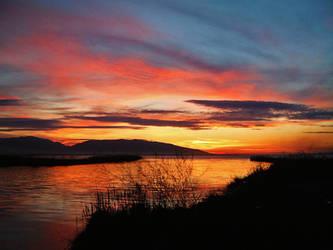 A beautiful sunset by desertsun