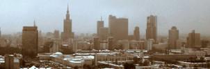 Warsaw skyline - edited by Grzechool