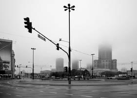 Foggy morning by Grzechool