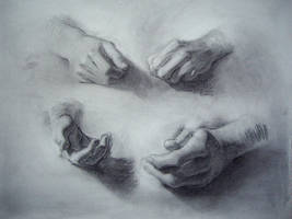 Head + Hands 1 - 6 by alesyira