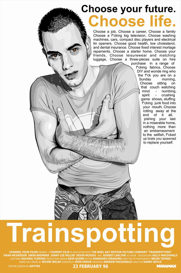 Trainspotting Poster Tumblr Trainspotting Movie Poster by