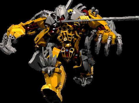 Flame Tribe Glatorian - Mutant