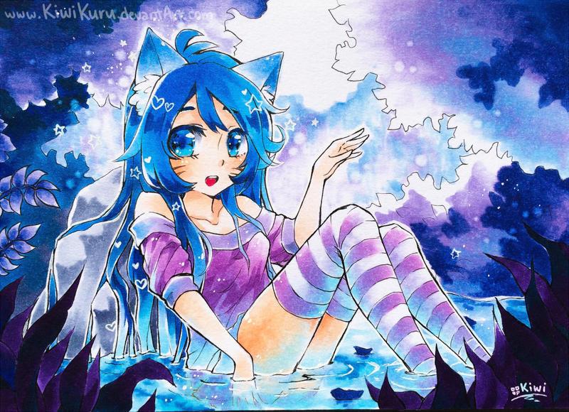 Blue Water Springs - commission by KiwiKuru