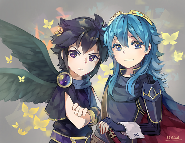Dark Pit And Lucina By ToasterKiwi