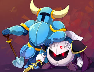 Meta Knight Shovel Knight commission