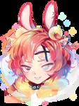 COMMISSION: Rainbow tiger baby