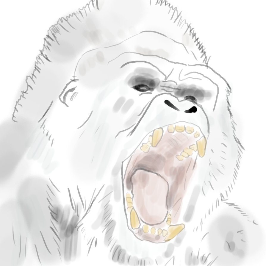 Angry Ghost Gorilla by MeBeGreen on DeviantArt