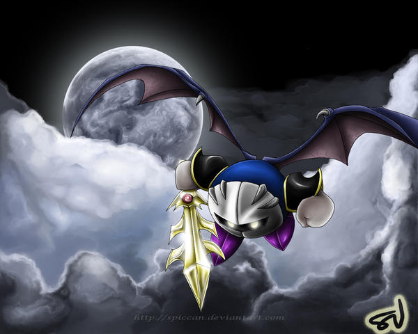 Meta Knight wallpaper LARGE by Spiccan