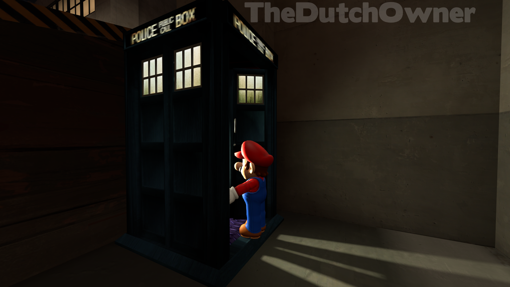 Mario in the TARDIS by TheDutchOwner
