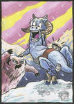 Fearful Taun Taun sketch card by Reznorix