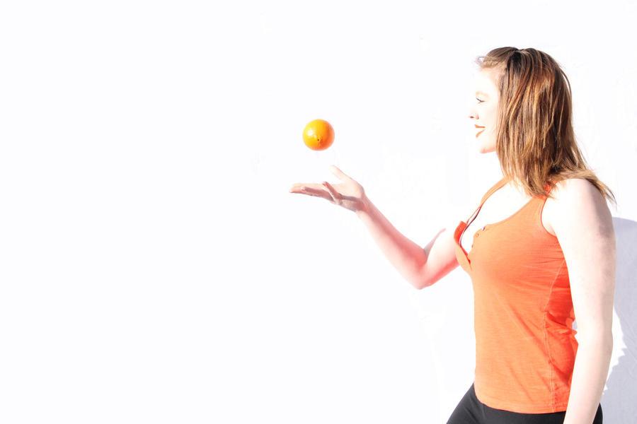 Orange Toss by M-Victoria-W