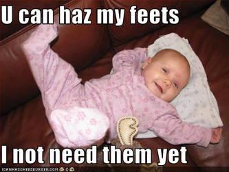 U can haz my feets...