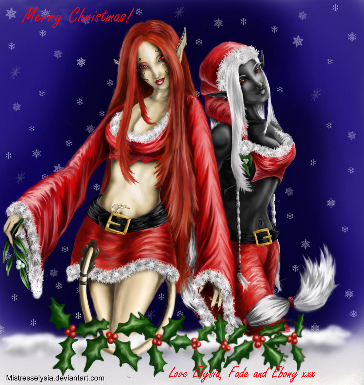 Merry Christmas by Mistresselysia