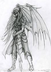 Drow Dragon Disciple sketch by Mistresselysia