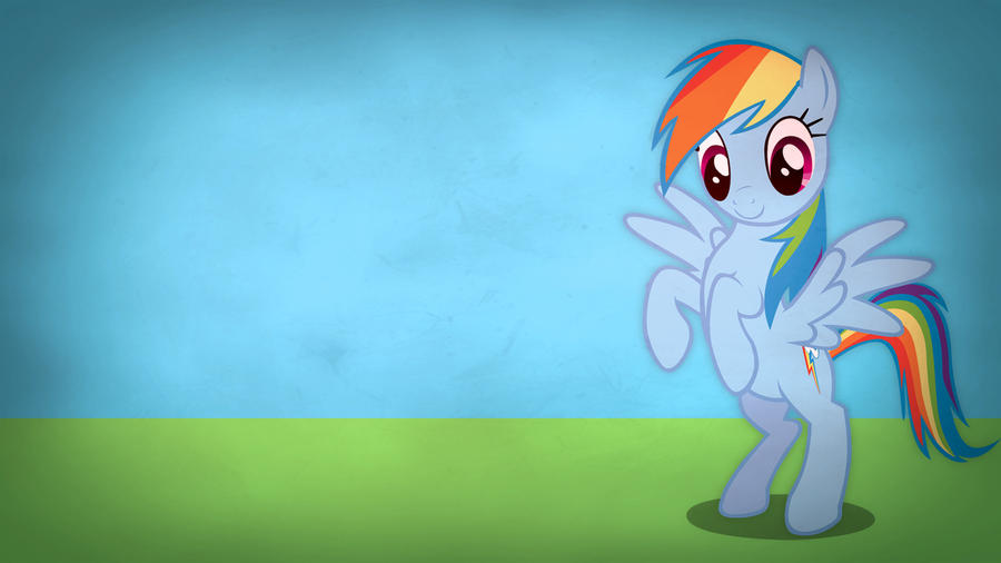 Fairly simple pony wallpapers - Rainbow Dash by Poowis
