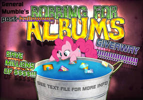 Bobbing for Albums flyer (NO LONGER VALID) by Poowis