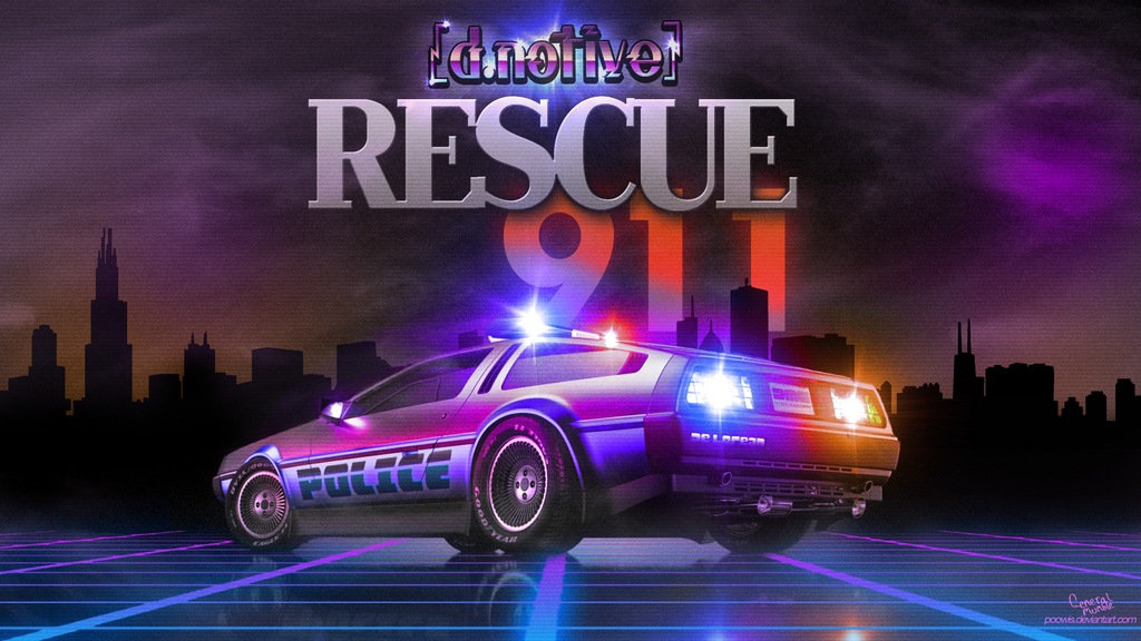 d.notive - Rescue 911 Theme - cover art by Poowis