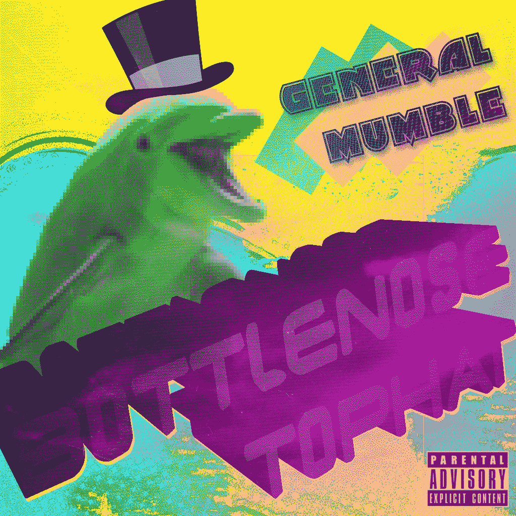 General Mumble - Bottlenose Tophat - album art by Poowis
