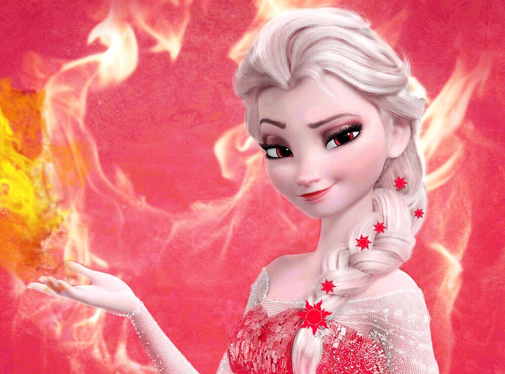 Fire Elsa!!:) by featherfaery on DeviantArt