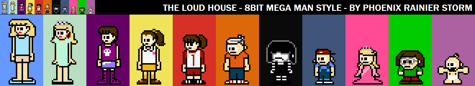 The Loud House 8bit Mega Man Style By Prstorm On Deviantart