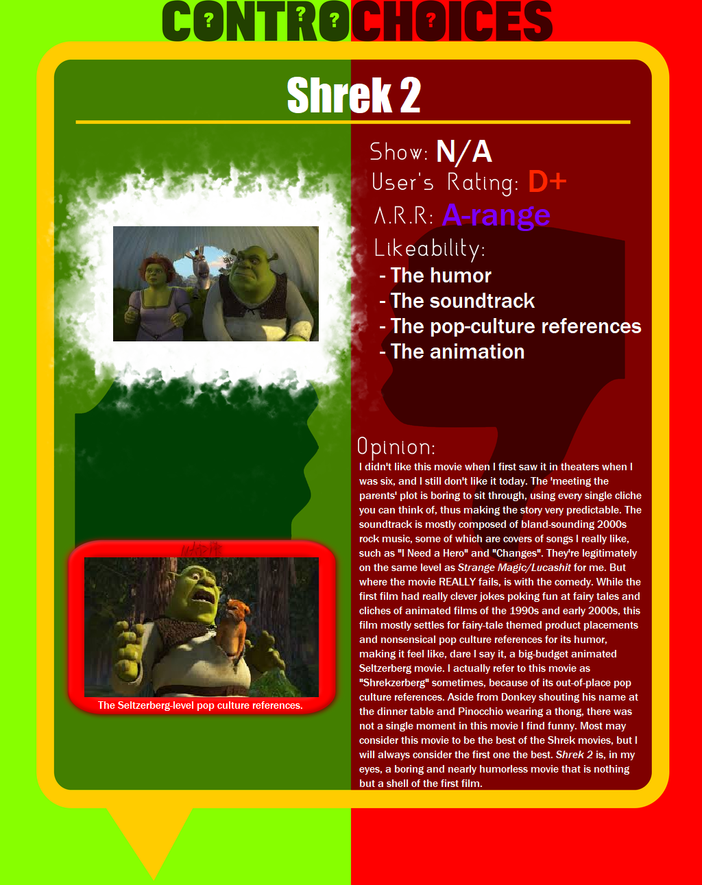 Controchoices Shrek 2 By Phoenixofgrunvale On Deviantart